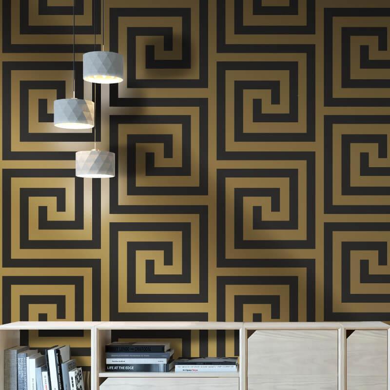 Debona-Athena-Greek-Key-Metallic-Glitter-Wallpaper-4-Colours thumbnail 9