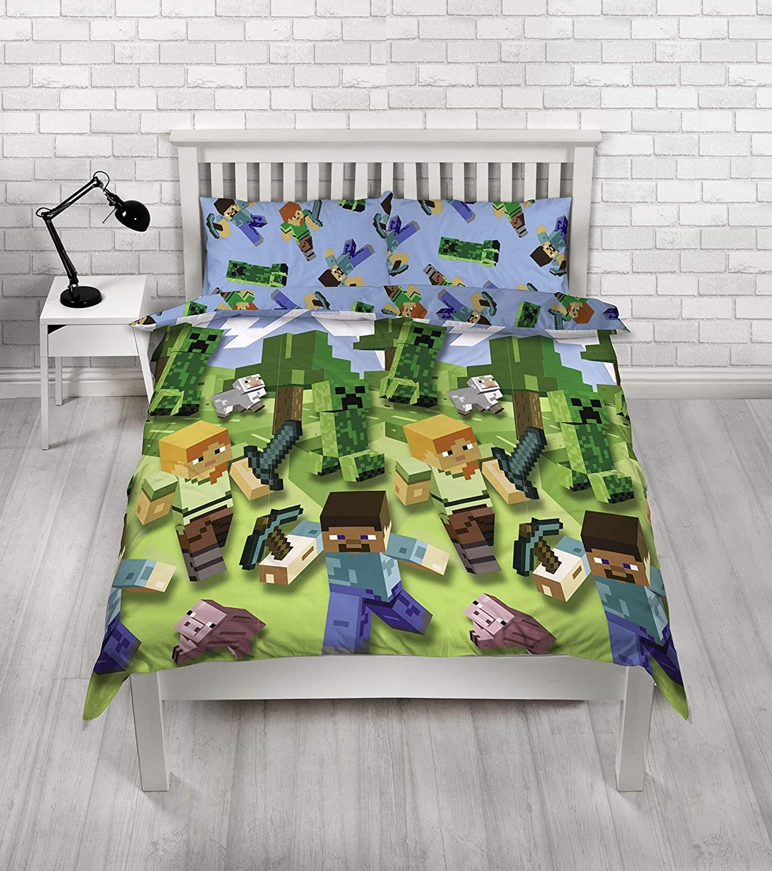 miniatura 68 - Minecraft Biancheria da letto Creeper PIUMONI Asciugamano Cuscino Coperta-venduta separatamente