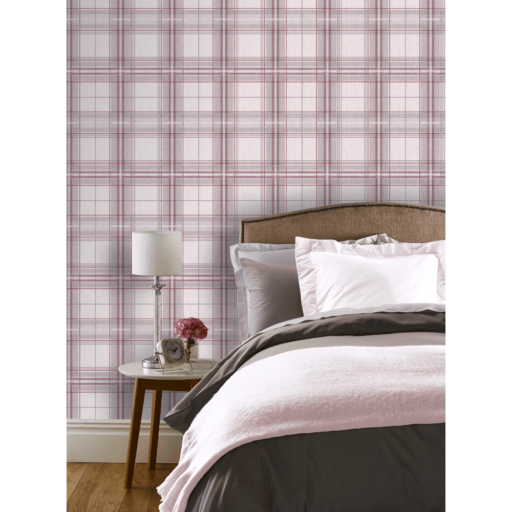 Checked-Tartan-Wallpaper-Textured-Glitter-Country-Check-Modern-Collection thumbnail 29