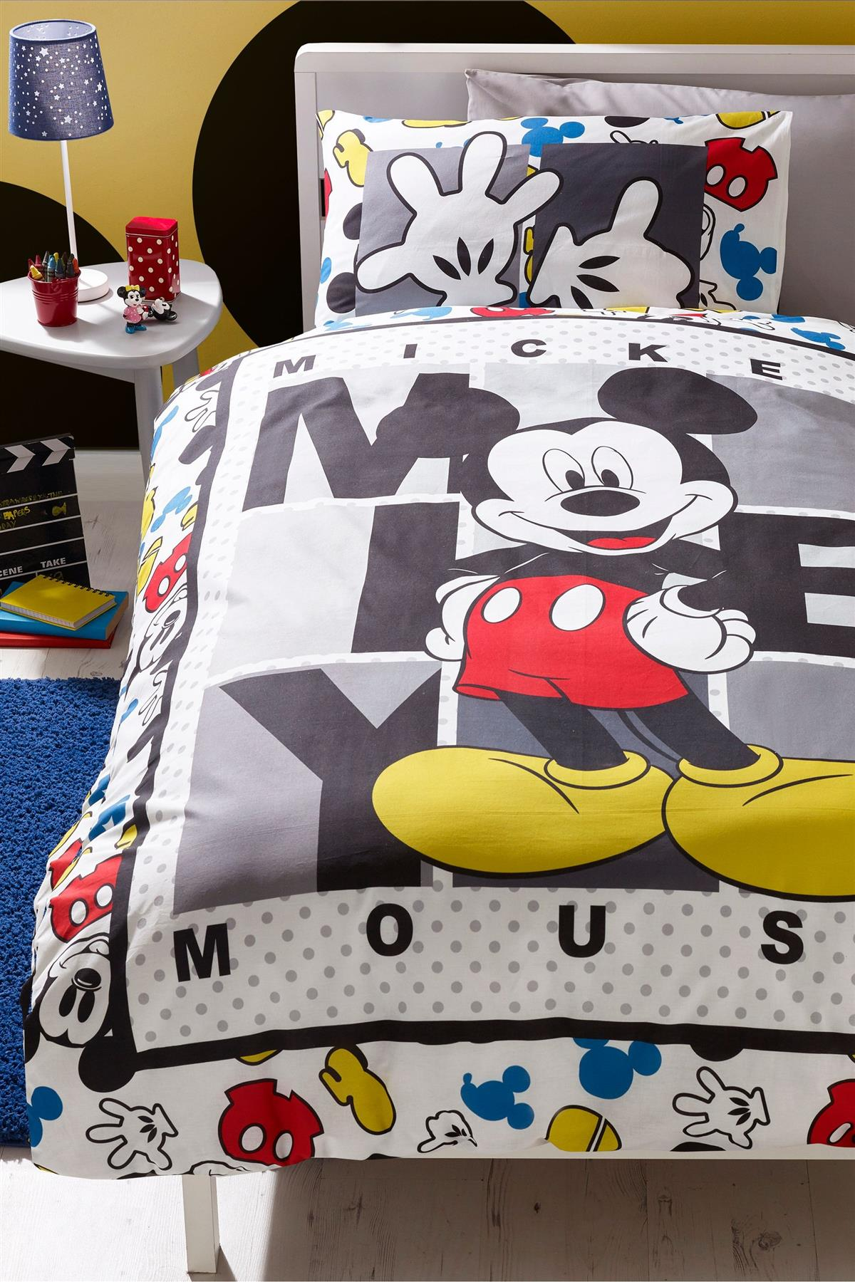 Disney-Mickey-Minnie-mouse-fundas-nordicas-SINGLE-doble-Ropa-De-Cama-Reversible miniatura 6