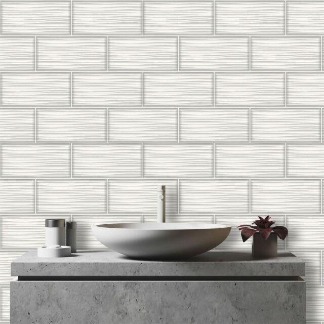 Holden-Decor-Apex-Wave-Tile-Effect-Wallpaper-Marble-Glitter-Kitchen-Bathroom thumbnail 13