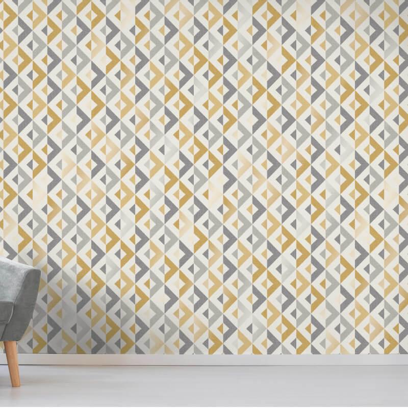 thumbnail 13 - Fine Decor Scandi Geo/Forrest Metallic Finish 10m Wallpaper