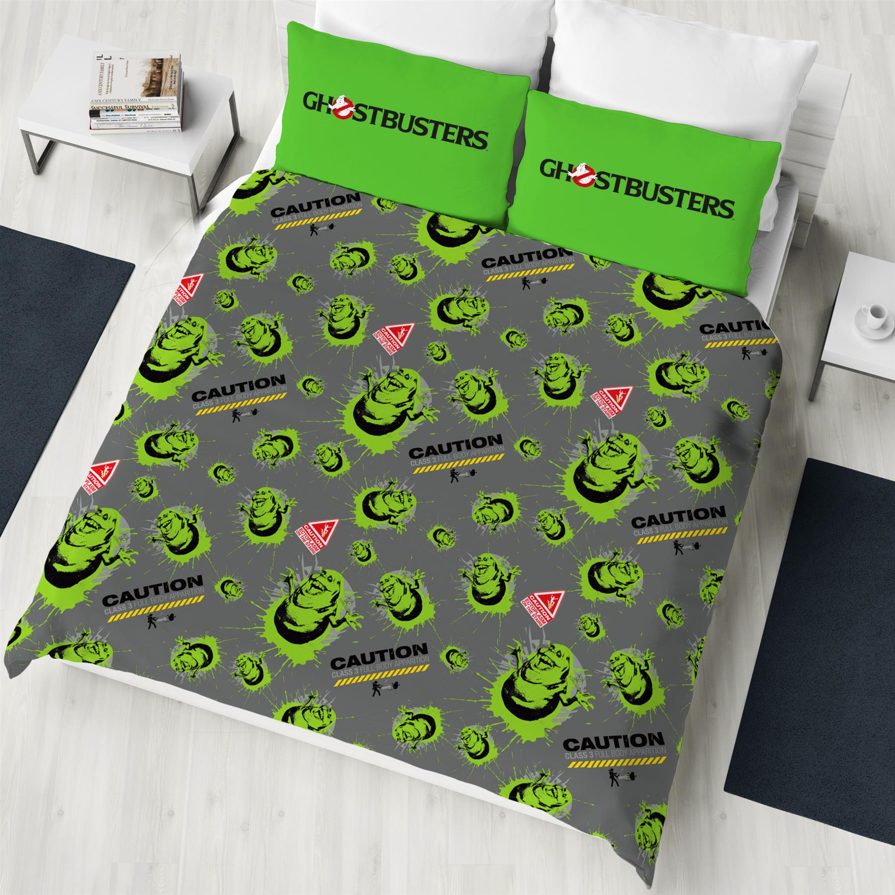 Ghostbusters-Glow-in-the-Dark-Single-Double-Duvet-Cover-Reversible-Bedding thumbnail 3