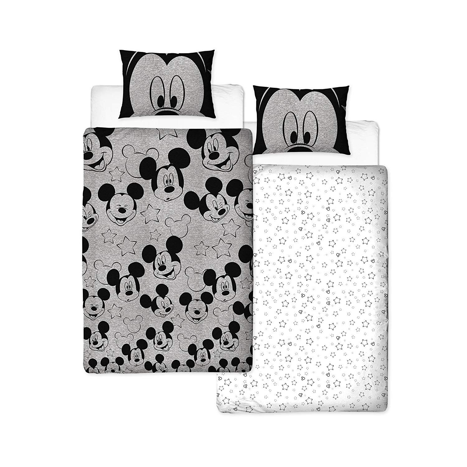 Disney-Mickey-Minnie-mouse-fundas-nordicas-SINGLE-doble-Ropa-De-Cama-Reversible miniatura 11