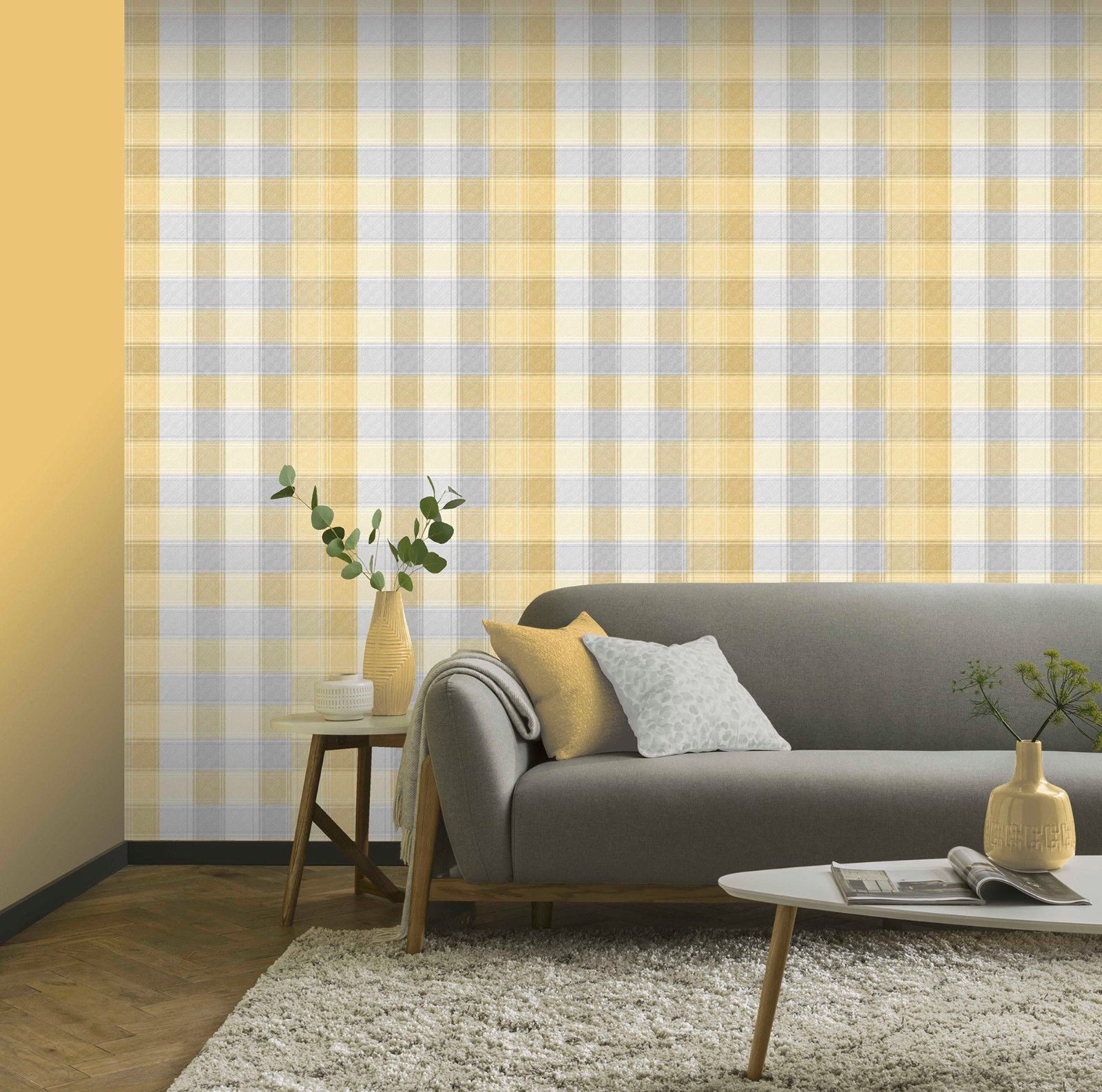 Checked-Tartan-Wallpaper-Textured-Glitter-Country-Check-Modern-Collection thumbnail 25