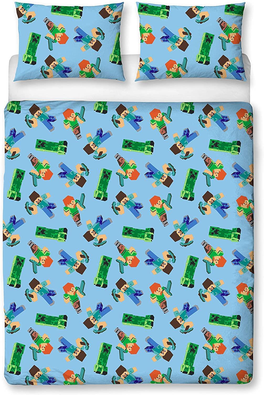 miniatura 66 - Minecraft Biancheria da letto Creeper PIUMONI Asciugamano Cuscino Coperta-venduta separatamente