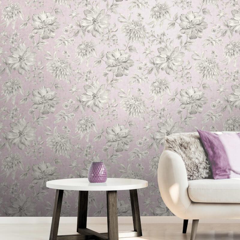 Fine-Decor-Lucia-Floral-Metallic-Effect-10m-Wallpaper-4-Colours thumbnail 7