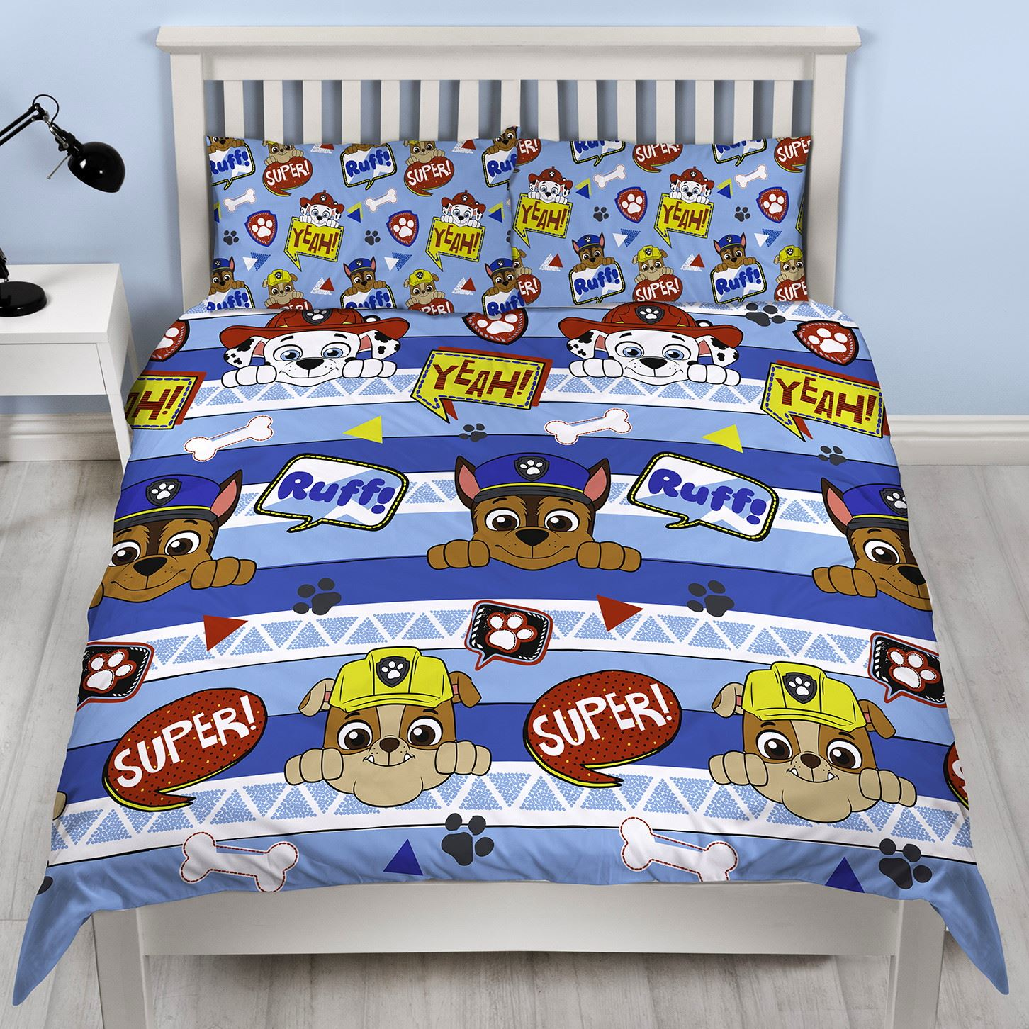 Official-Paw-Patrol-Licensed-Duvet-Covers-Single-Double-Chase-Skye-Marshall thumbnail 23