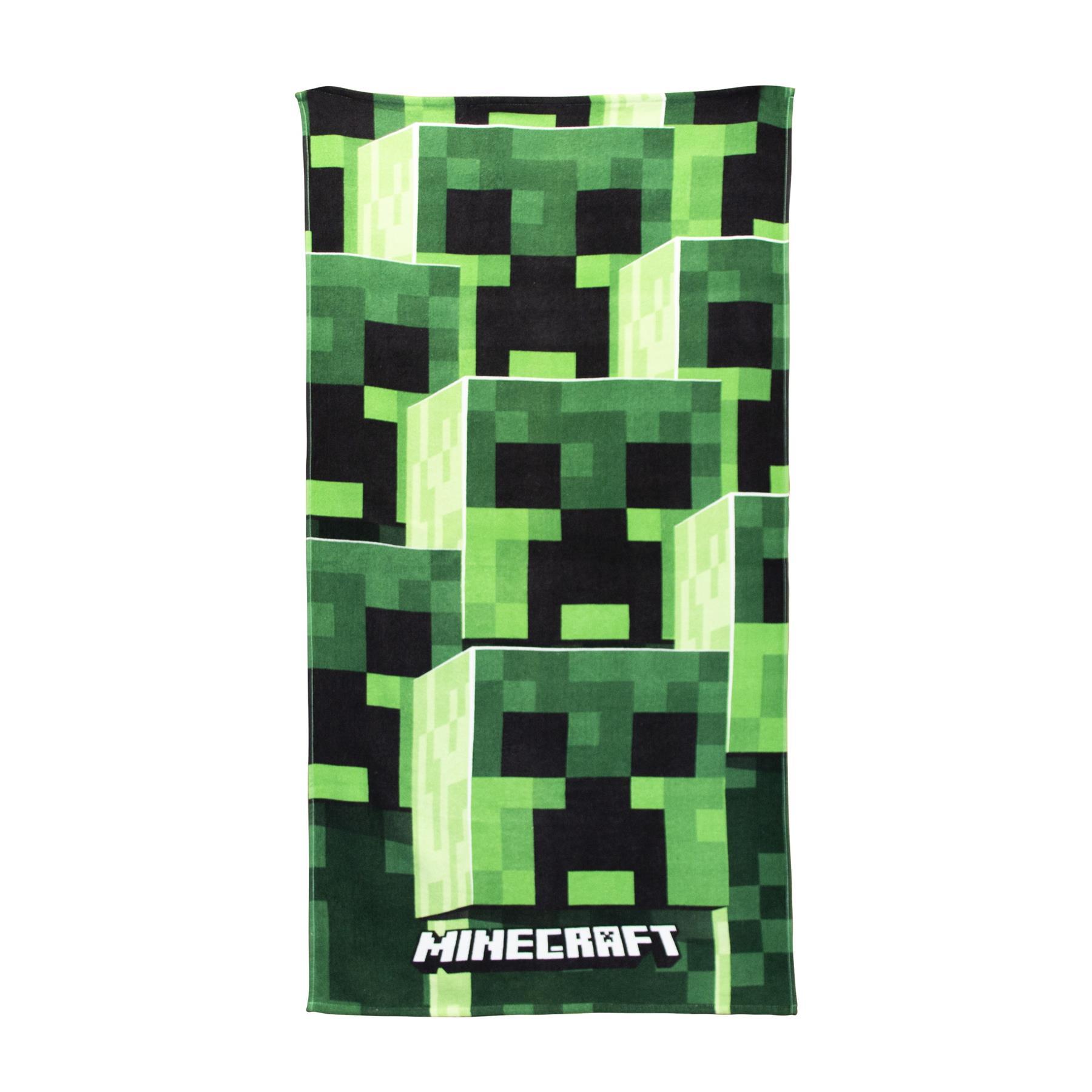 miniatura 8 - Minecraft Biancheria da letto Creeper PIUMONI Asciugamano Cuscino Coperta-venduta separatamente