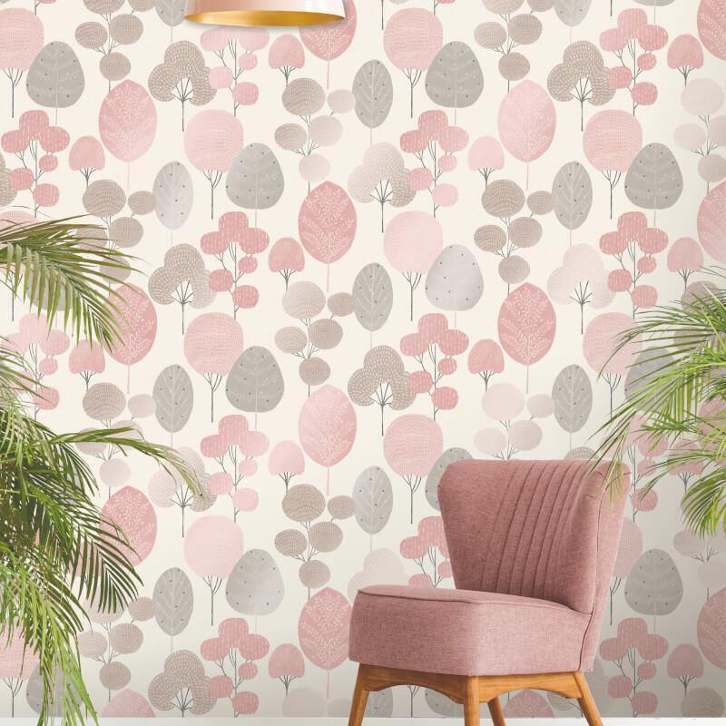 thumbnail 5 - Fine Decor Scandi Geo/Forrest Metallic Finish 10m Wallpaper