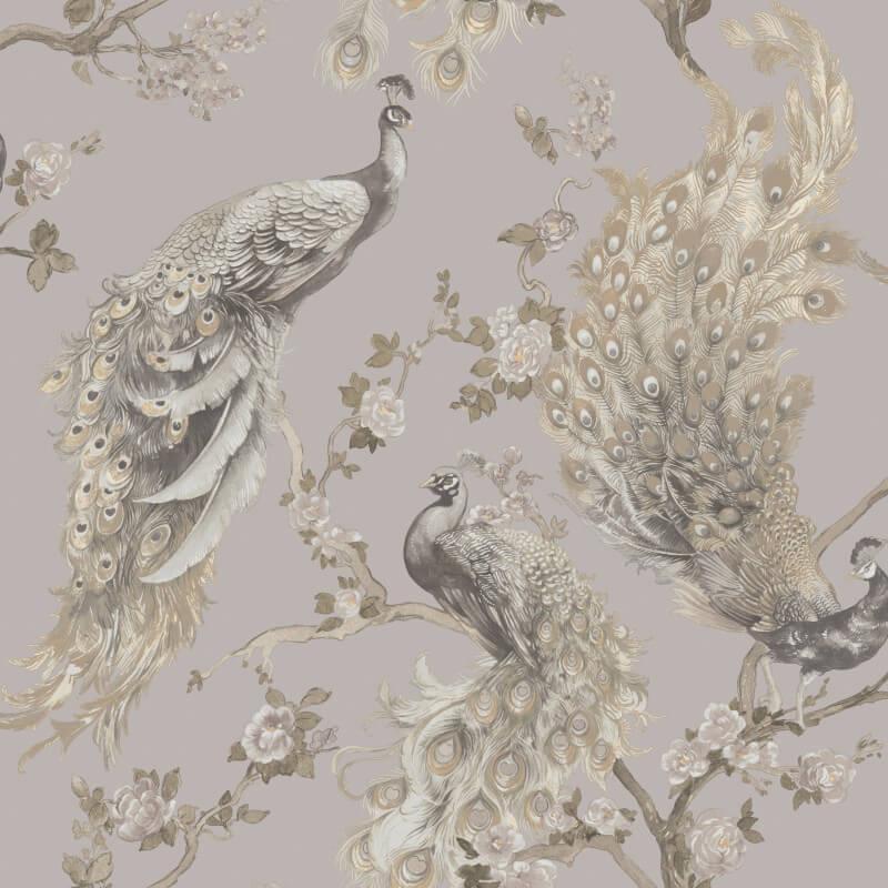 Holden-Decor-Menali-Peacock-Design-Glitter-Wallpaper-10m-4-Colours thumbnail 5