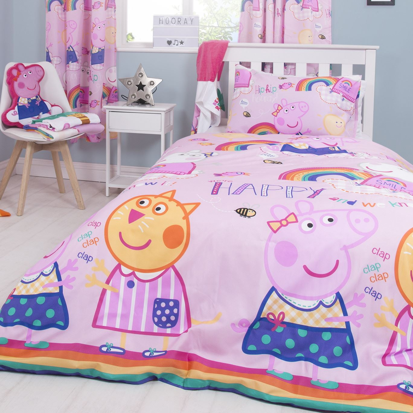 Oficial-Peppa-Pig-George-fundas-nordicas-SINGLE-doble-Ropa-De-Cama-Reversible miniatura 9