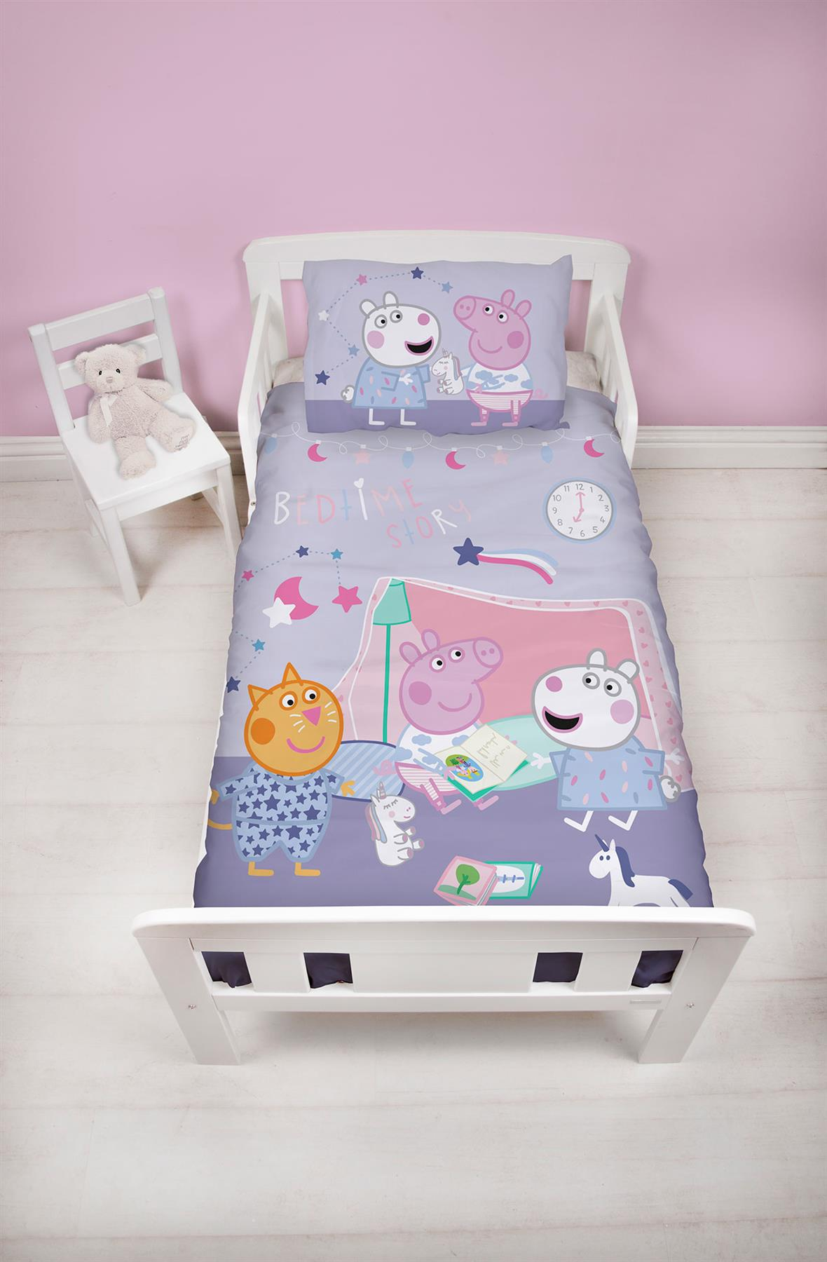 Oficial-Peppa-Pig-George-fundas-nordicas-SINGLE-doble-Ropa-De-Cama-Reversible miniatura 23