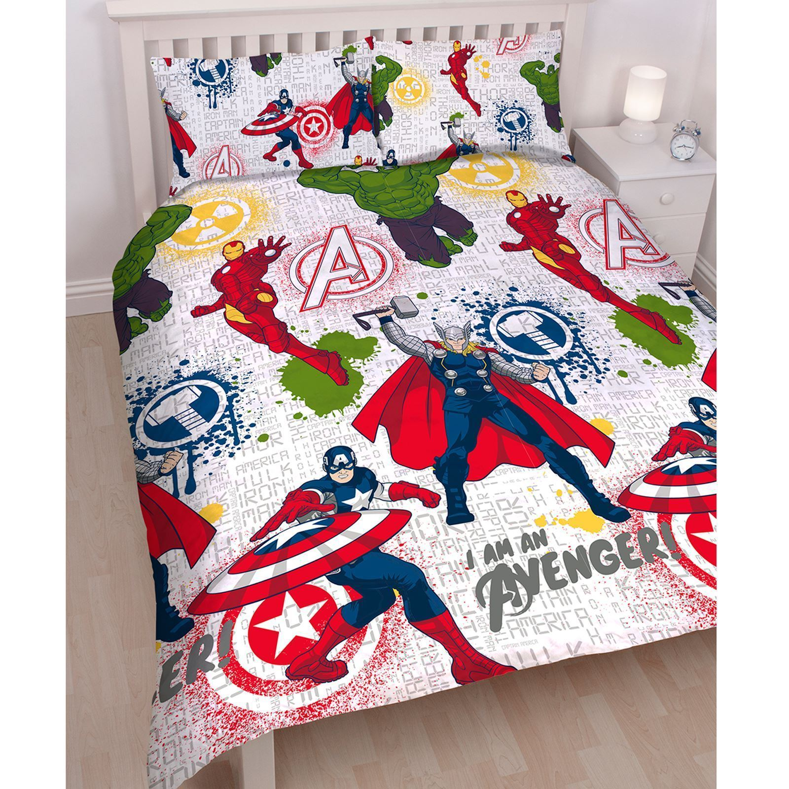 Official-Marvel-Comics-Avengers-Licensed-Duvet-Covers-Single-Double thumbnail 7