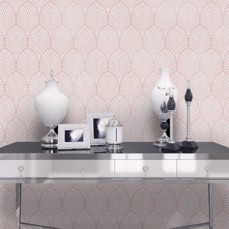 Geometric-Wallpaper-Metallic-Smooth-Textured-Apex-Triangles-Trellis-Diamonds thumbnail 21