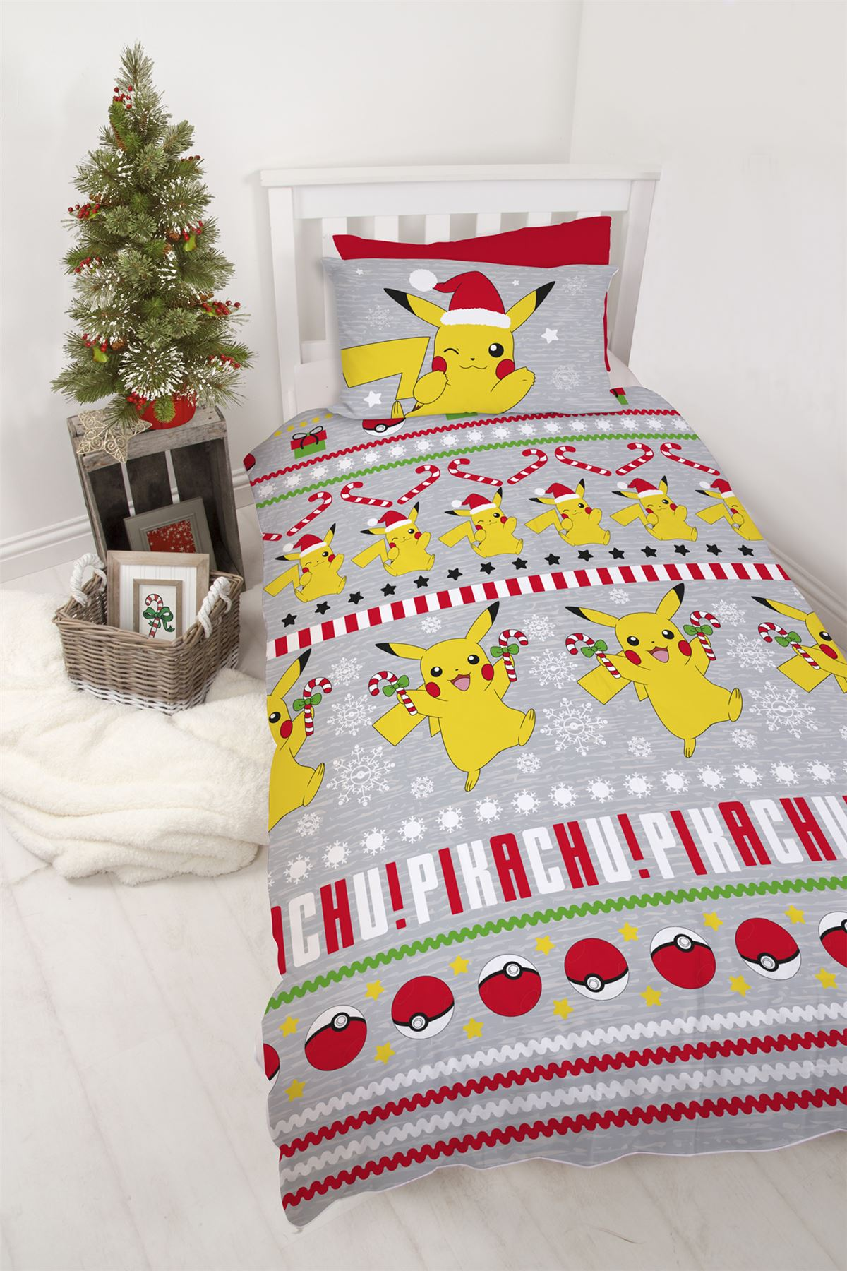 Official-Pokemon-Licensed-Duvet-Covers-Single-Double-Pikachu-Bedding-Gaming thumbnail 3