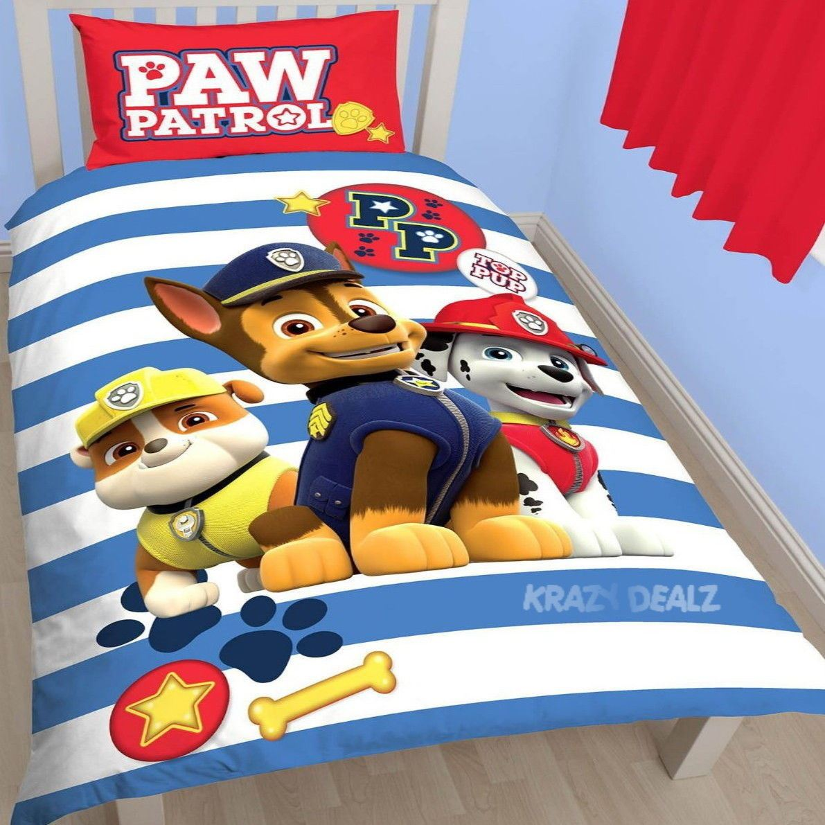 Official-Paw-Patrol-Licensed-Duvet-Covers-Single-Double-Chase-Skye-Marshall thumbnail 20