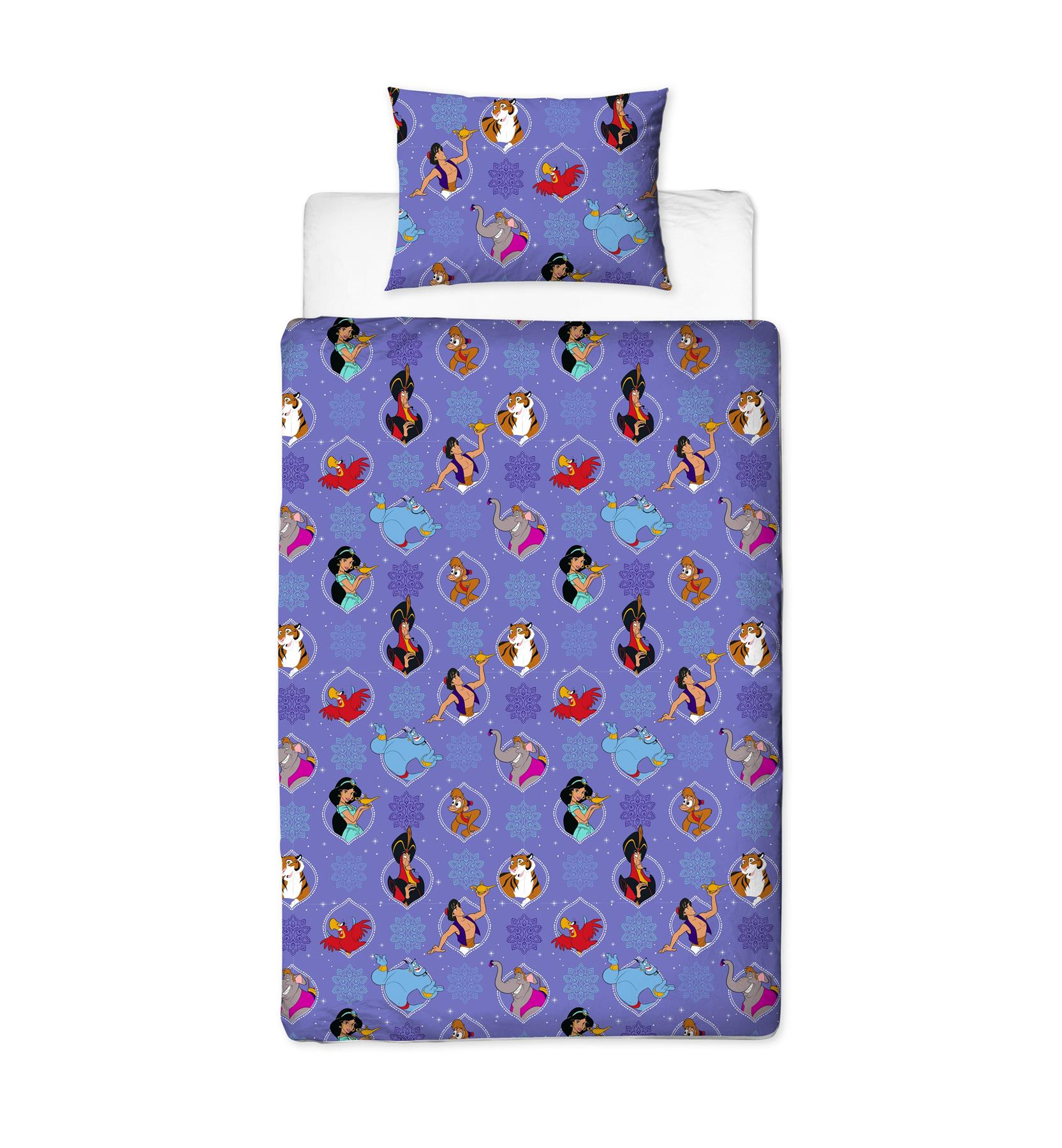 Official-Disney-Aladdin-Licensed-Duvet-Covers-Single-Double-Bedding-Genie thumbnail 14