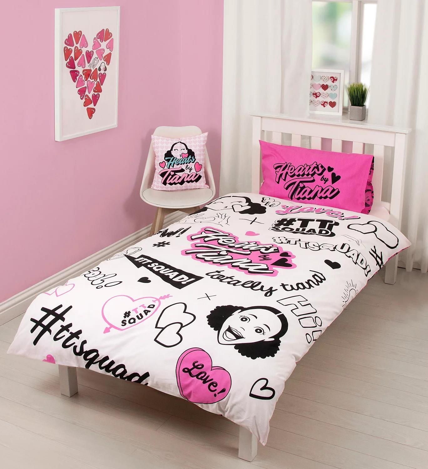 Hearts-by-Tiana-Bedding-Single-Duvet-Cushion-Fleece-Blanket-TTSquad thumbnail 7