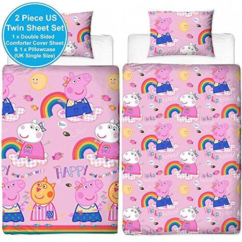 Oficial-Peppa-Pig-George-fundas-nordicas-SINGLE-doble-Ropa-De-Cama-Reversible miniatura 10