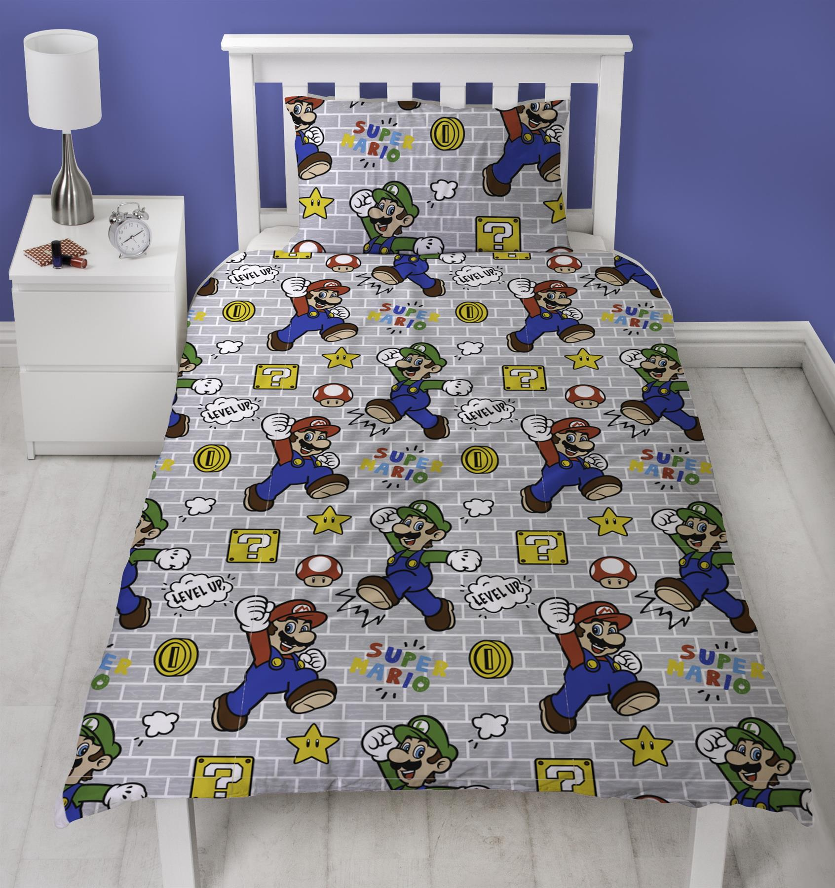 Official-Nintendo-Super-Mario-Licensed-Duvet-Covers-Single-Double-Odyssey-Maker thumbnail 17