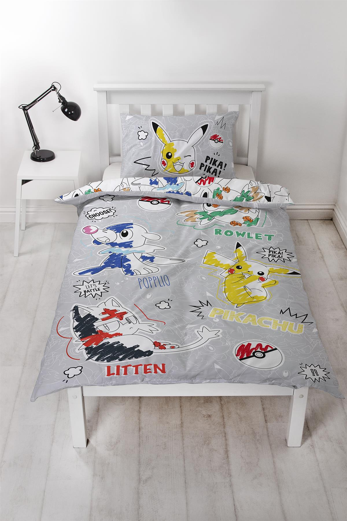 Official-Pokemon-Licensed-Duvet-Covers-Single-Double-Pikachu-Bedding-Gaming thumbnail 9
