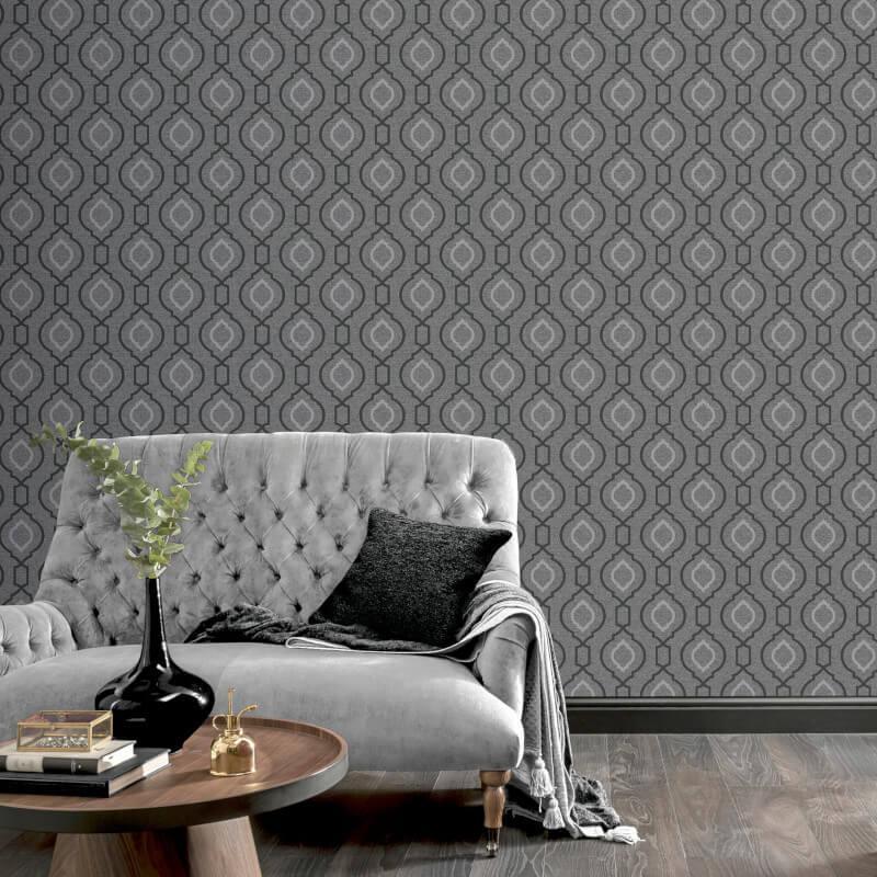 Arthouse-Calico-Range-Trellis-Floral-Dot-Stripe-amp-Plain-Textured-Wallpaper thumbnail 30