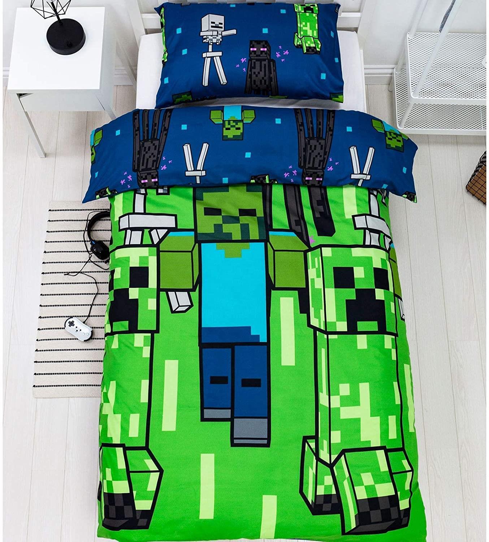 miniatura 33 - Minecraft Biancheria da letto Creeper PIUMONI Asciugamano Cuscino Coperta-venduta separatamente