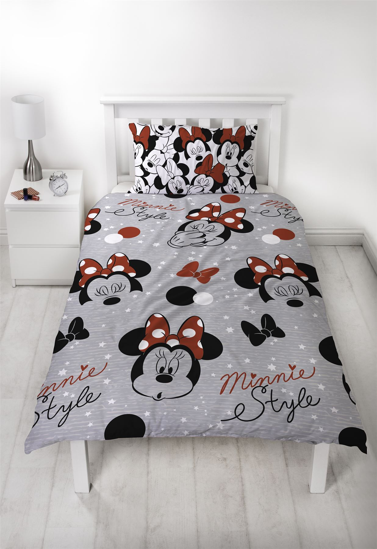 Disney-Minnie-Mouse-039-Cute-039-Single-Double-Duvet-Cover-Reversible-Bedding-Set thumbnail 5