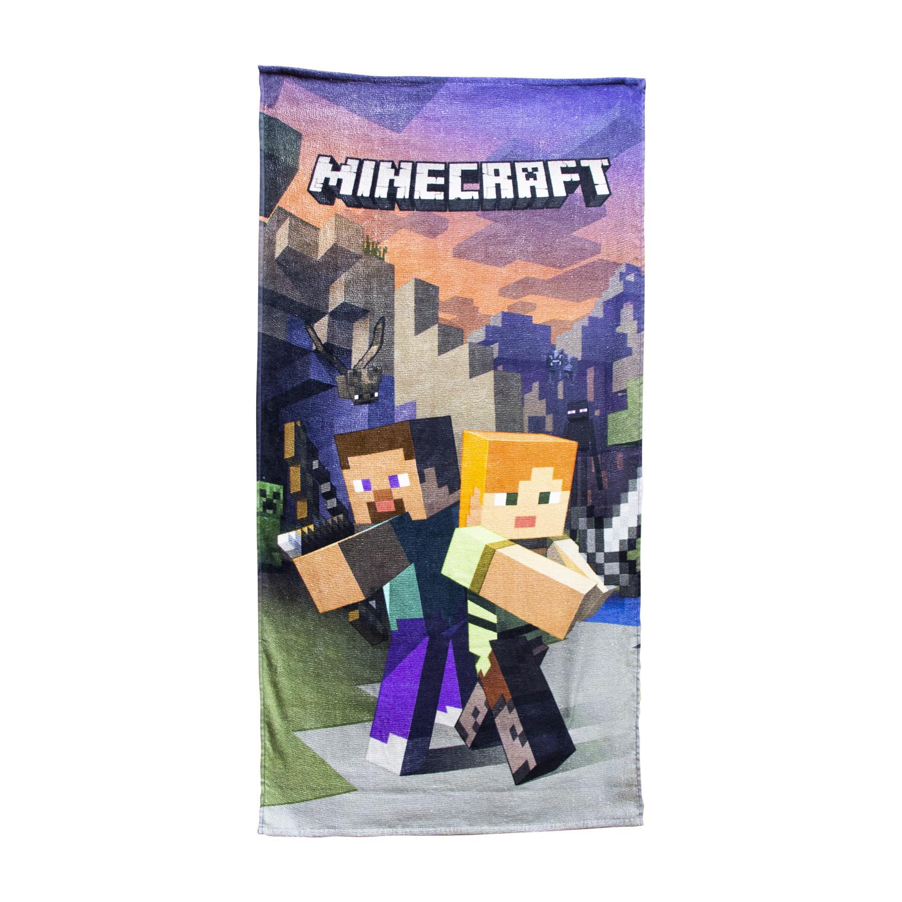 miniatura 53 - Minecraft Biancheria da letto Creeper PIUMONI Asciugamano Cuscino Coperta-venduta separatamente