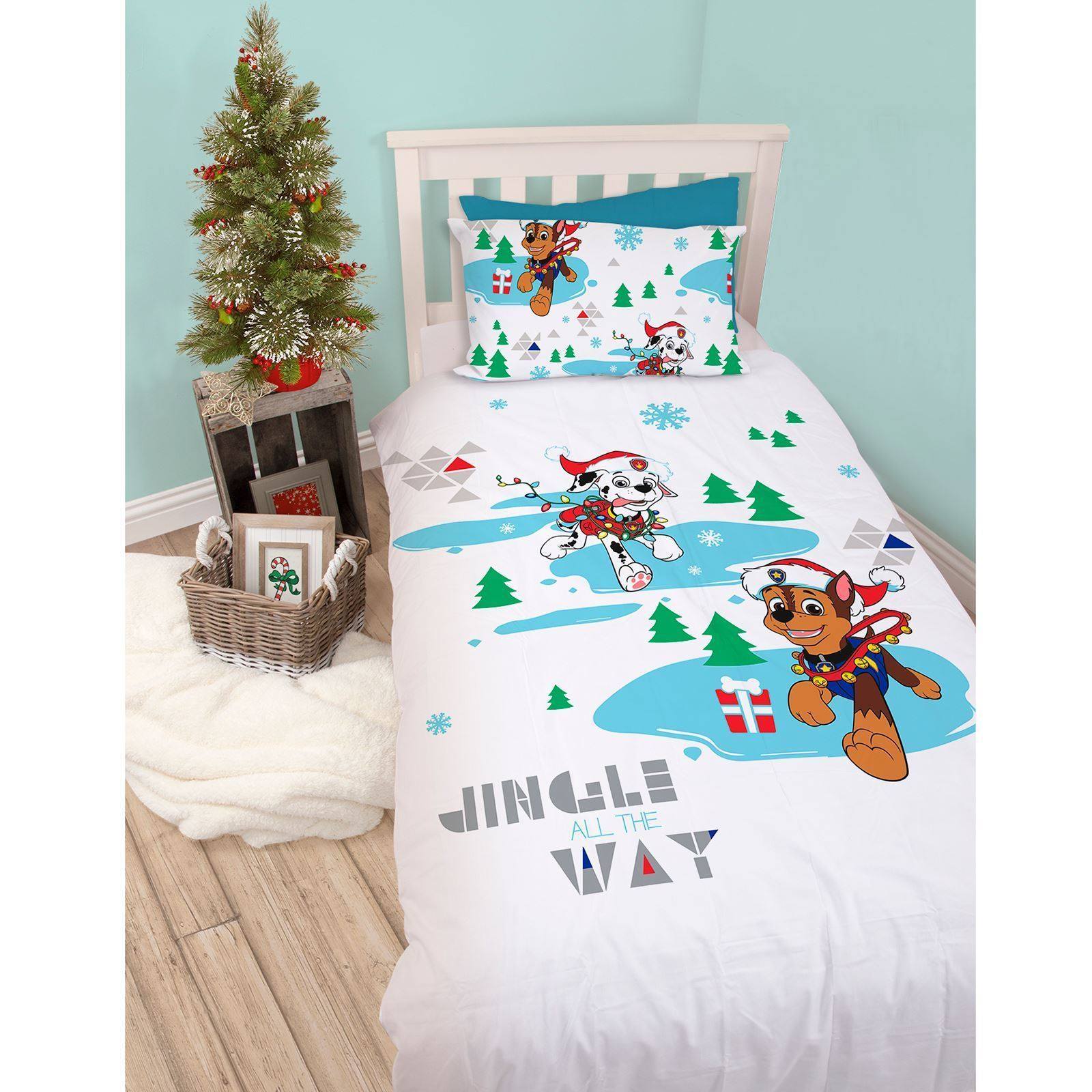 Official-Paw-Patrol-Licensed-Duvet-Covers-Single-Double-Chase-Skye-Marshall thumbnail 11