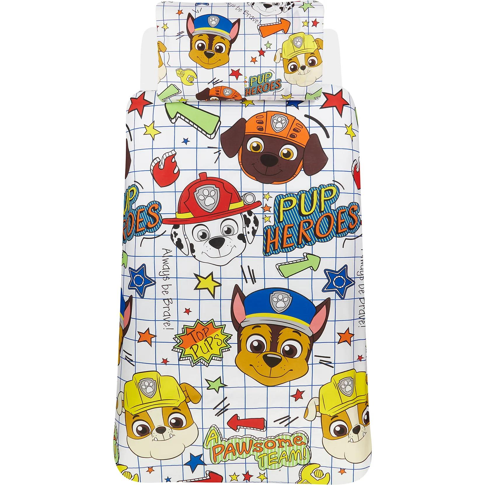Official-Paw-Patrol-Licensed-Duvet-Covers-Single-Double-Chase-Skye-Marshall thumbnail 3