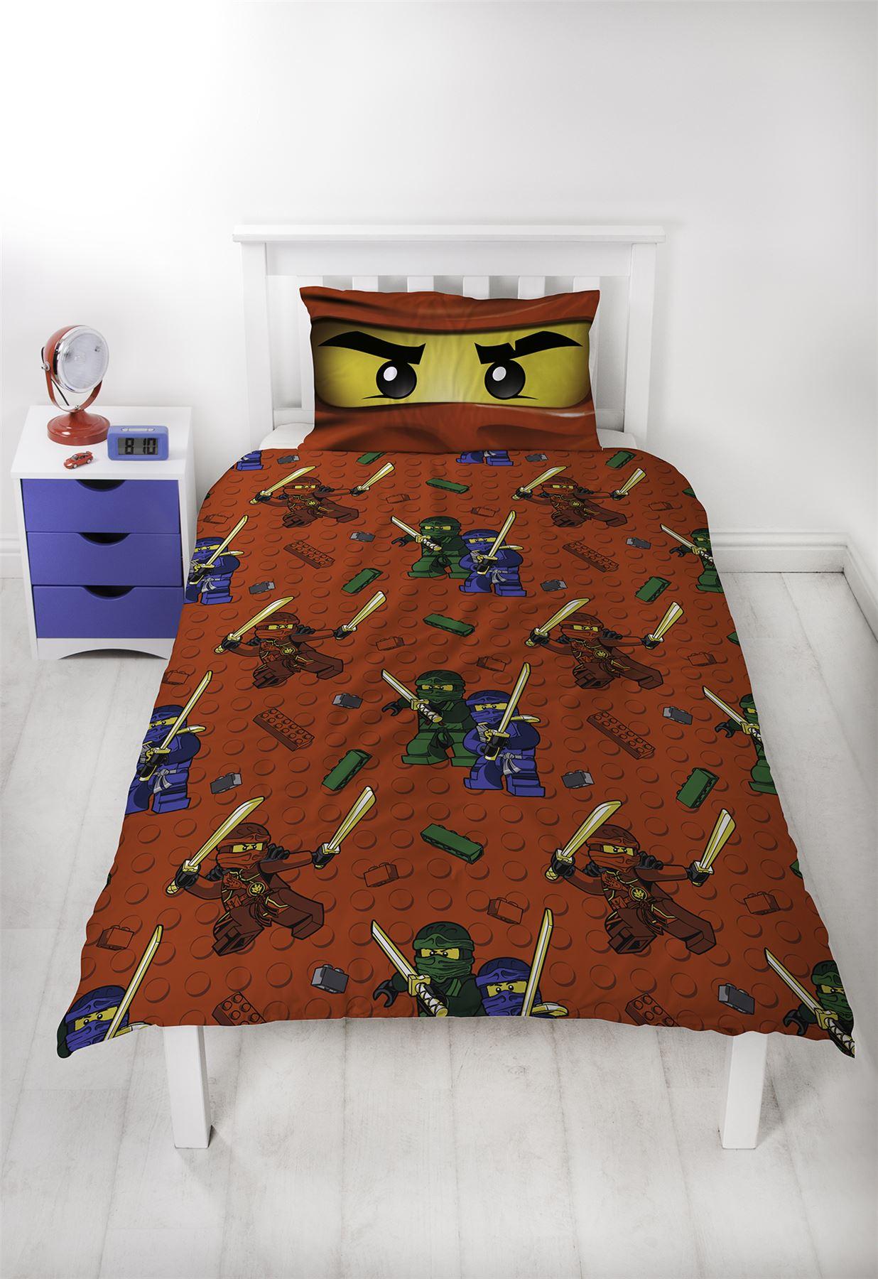 Official-Licensed-Lego-Duvet-Bedding-Ninjago-Batman-Star-Wars-Jurassic thumbnail 32