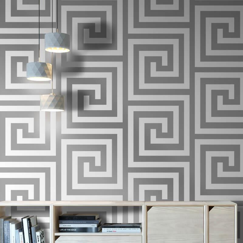 Debona-Athena-Greek-Key-Metallic-Glitter-Wallpaper-4-Colours thumbnail 5