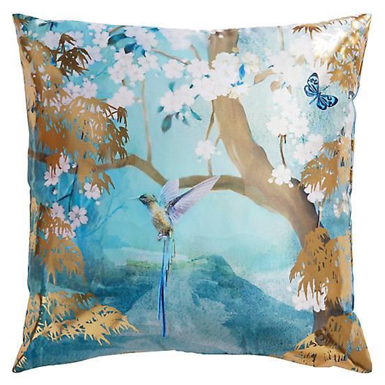 Arthouse-Luxury-Foil-Velvet-Cushions-Peacock-Floral-45x45cm-Filled-amp-Reversible thumbnail 9