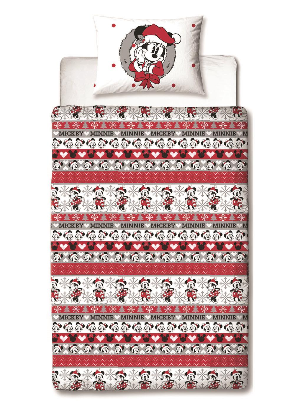 Disney-Mickey-Minnie-mouse-fundas-nordicas-SINGLE-doble-Ropa-De-Cama-Reversible miniatura 15