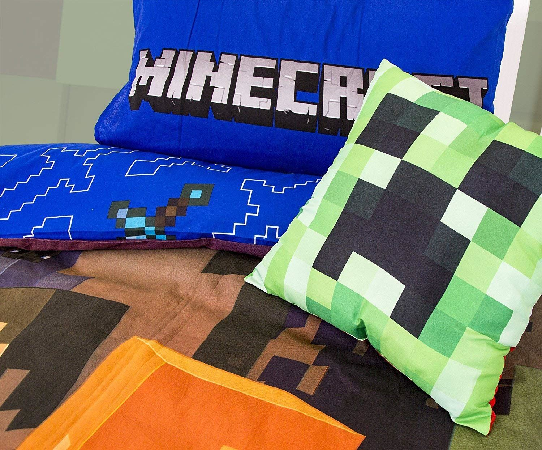 miniatura 77 - Minecraft Biancheria da letto Creeper PIUMONI Asciugamano Cuscino Coperta-venduta separatamente