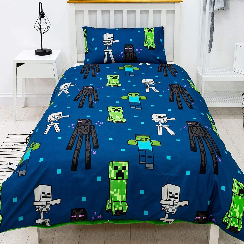 miniatura 30 - Minecraft Biancheria da letto Creeper PIUMONI Asciugamano Cuscino Coperta-venduta separatamente