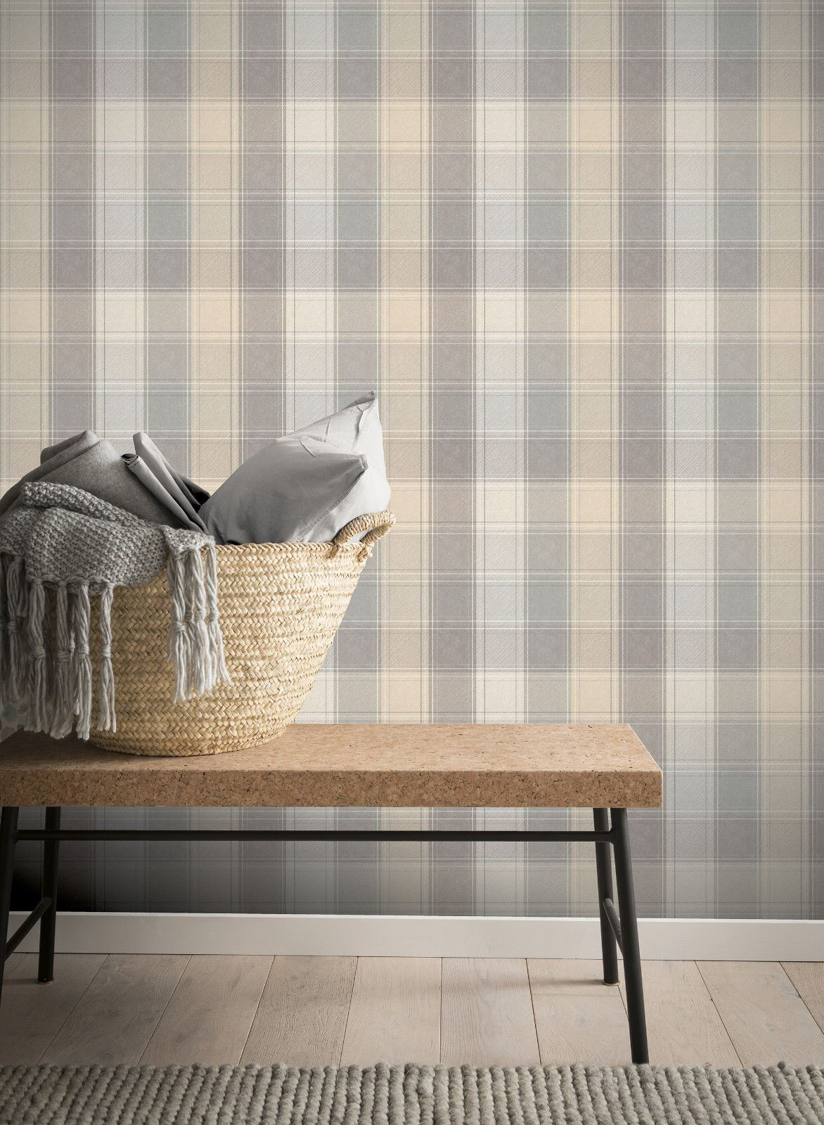 Checked-Tartan-Wallpaper-Textured-Glitter-Country-Check-Modern-Collection thumbnail 17