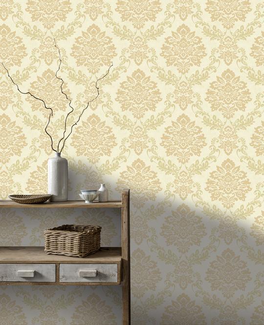 thumbnail 9 - Arthouse Palazzo Range Damask & Stripe Glitter Textured Wallpaper 10m Rolls