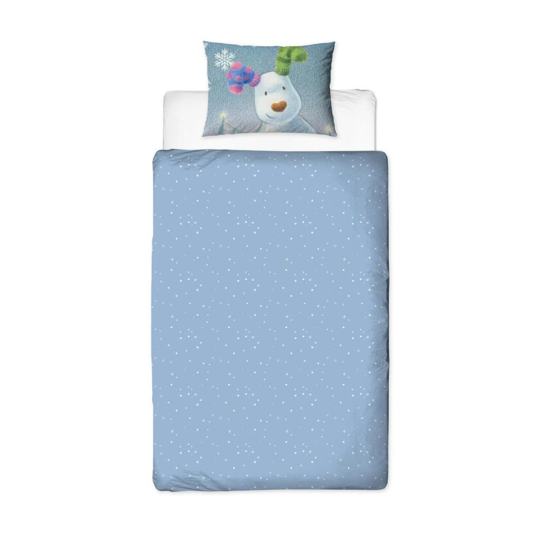 Official-The-Snowman-Duvet-Cover-Single-Double-Reversible-Bedding-Fleece-Blanket thumbnail 5