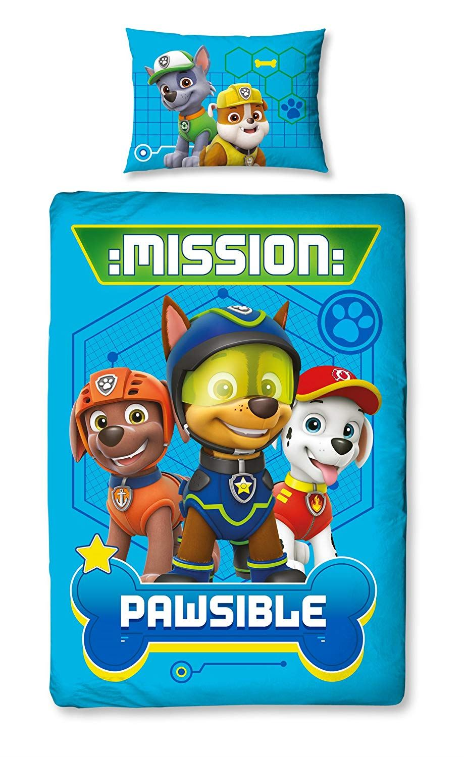 Official-Paw-Patrol-Licensed-Duvet-Covers-Single-Double-Chase-Skye-Marshall thumbnail 34