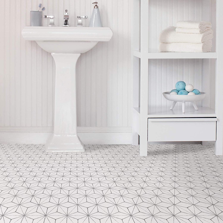WallPops-Bathroom-Kitchen-Peel-amp-Stick-Floor-Tiles-Vinyl-10pk-12-034-x-12-034 thumbnail 23
