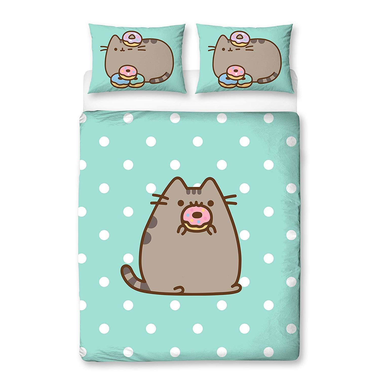 Pusheen-Doughnut-Single-Double-Reversible-Duvet-Cover-Bedding-Set thumbnail 5