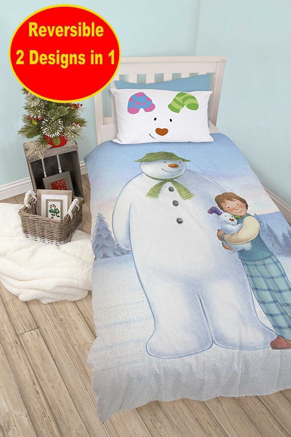 Official-The-Snowman-Duvet-Cover-Single-Double-Reversible-Bedding-Fleece-Blanket thumbnail 18