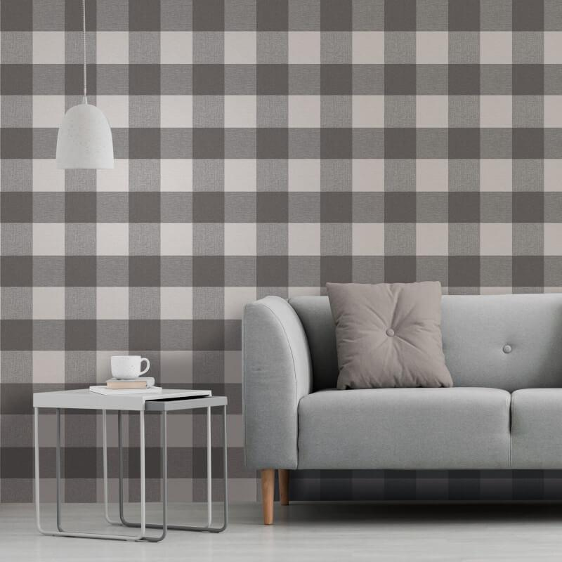 Checked-Tartan-Wallpaper-Textured-Glitter-Country-Check-Modern-Collection thumbnail 7