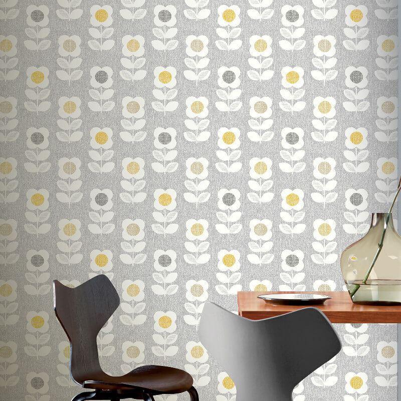 thumbnail 5 - Arthouse-Retro-Floral-Flower-Motif-10m-Wallpaper-3-Colours