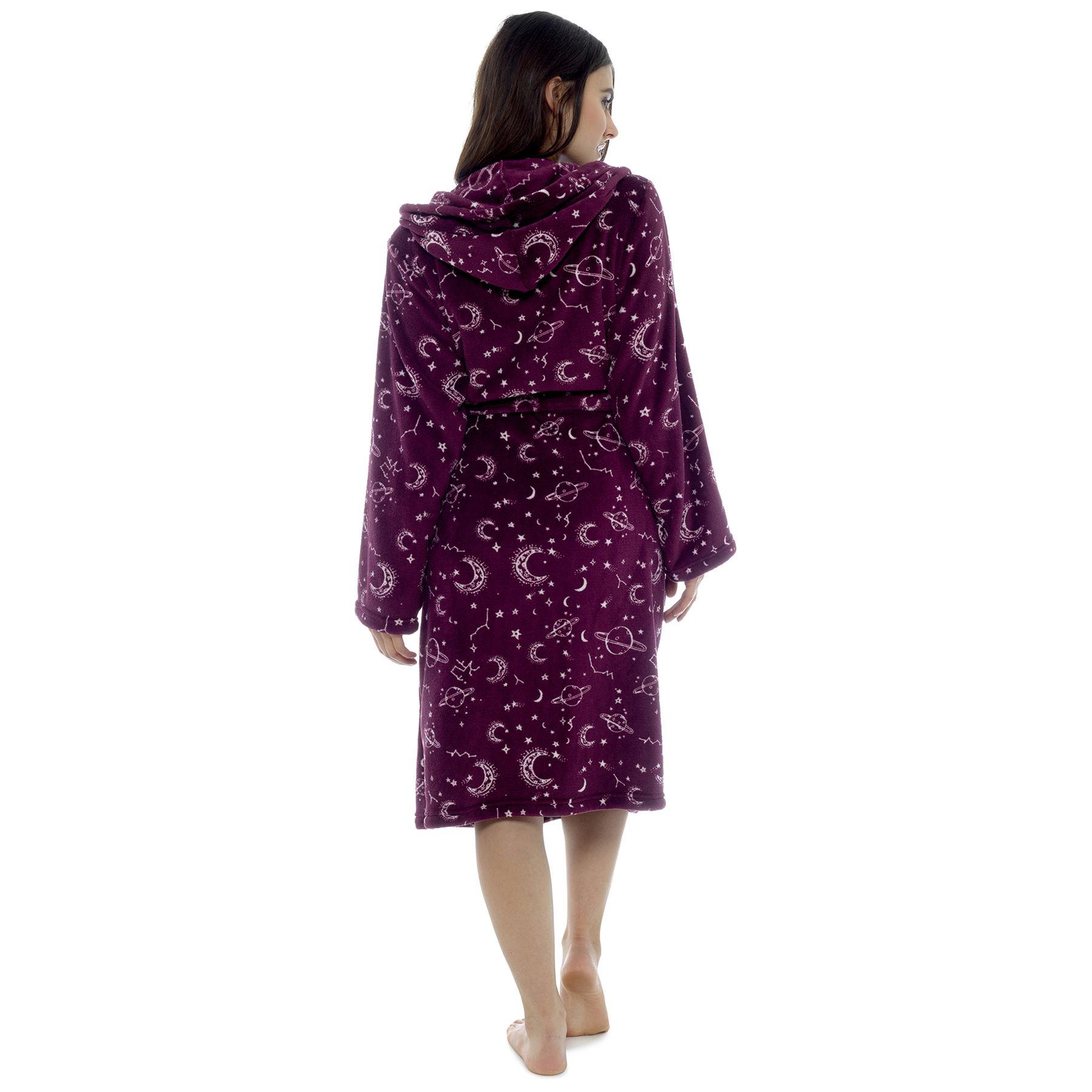 Femmes Star Gazer Imprimé Doux Chaud Polaire Robe de Chambre Hiver Taille 8-22