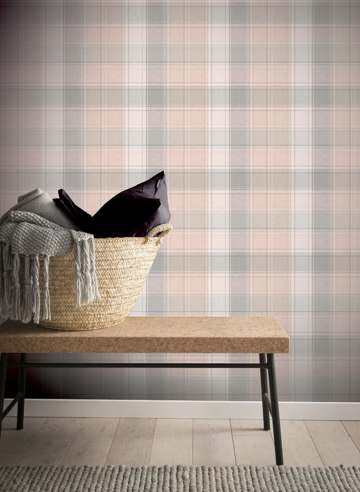 Checked-Tartan-Wallpaper-Textured-Glitter-Country-Check-Modern-Collection thumbnail 27