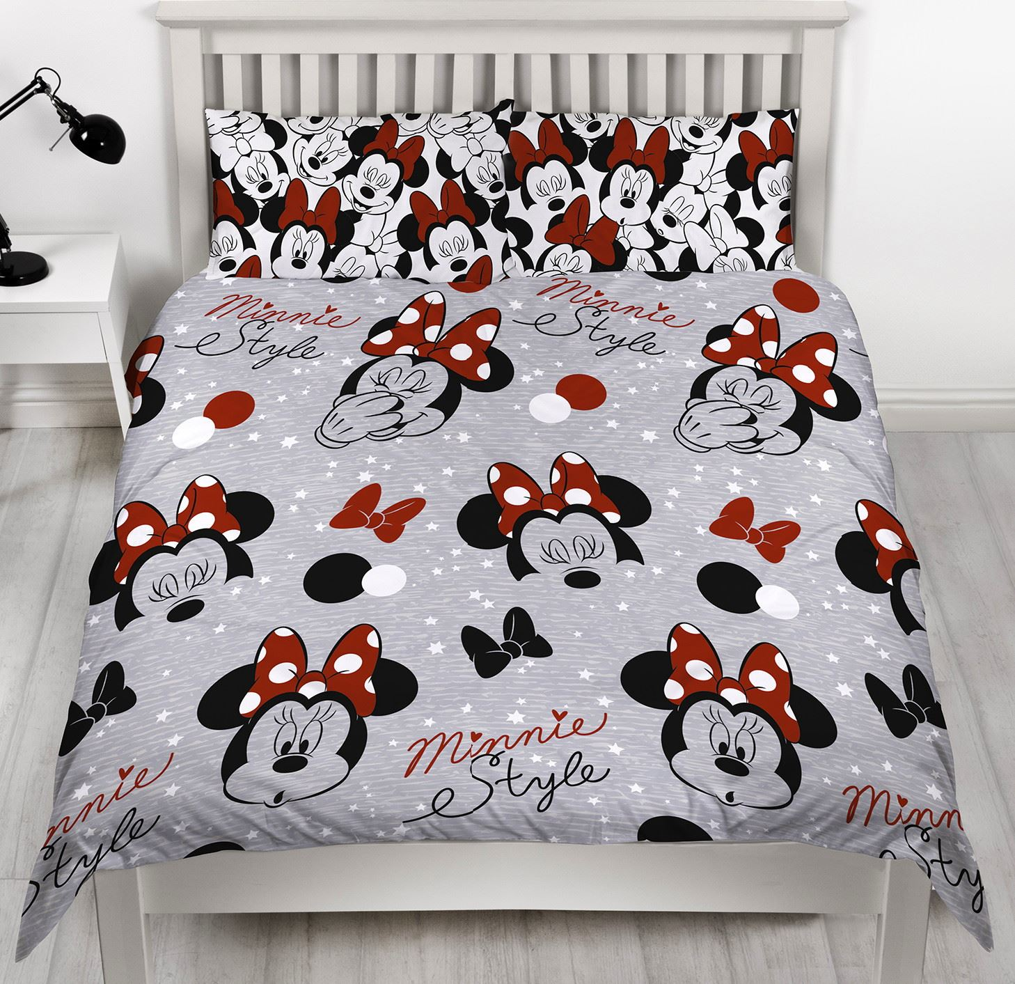 Disney-Mickey-Minnie-mouse-fundas-nordicas-SINGLE-doble-Ropa-De-Cama-Reversible miniatura 35